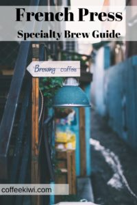 coffee shop with brewing coffee sign