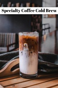 Cold brew specialty coffee in glass