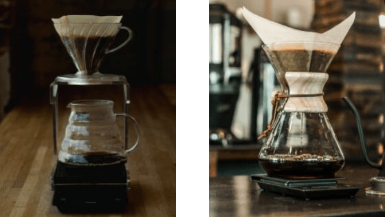 V60 and Chemex Coffee Makers