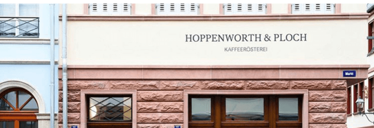 Hoppenworth and ploch logo on building