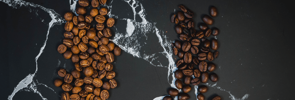 two types of roasted coffee beans
