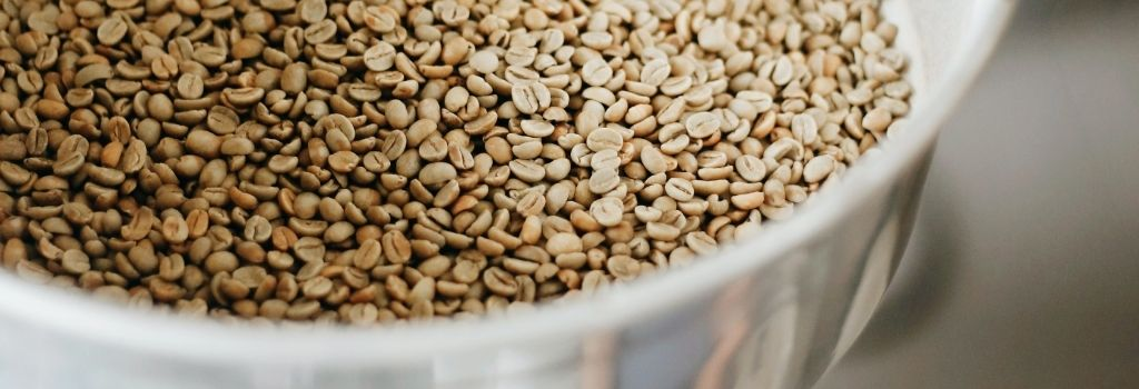 green coffee beans, un roasted coffee