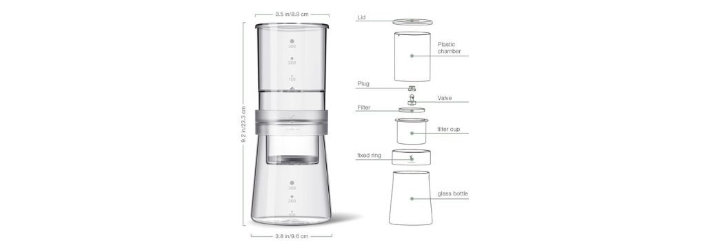 soulhand cold brew coffee maker diagram